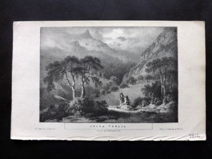 Gilly 1831 Antique Print. Cella Veglia, Italy